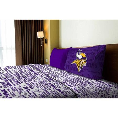 NFL Anthem Minnesota Vikings Bedding Sheet Set: Twin (Bedding Minnesota Vikings)