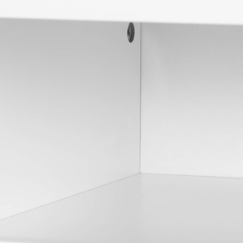 WOLTU Mesita de Noche Mesa de Centro con Caj/ón y Organizador Abierto con Patas de Madera Mesa para Cama caf/é Dormitorio Blanco 40x33,5x50cm TSR58ws