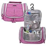 BUBM Hanging Toiletry Bag/ Cosmetic Case/ Travel Kit Organizer Bag for Women Makeup & Men Grooming (Pink)