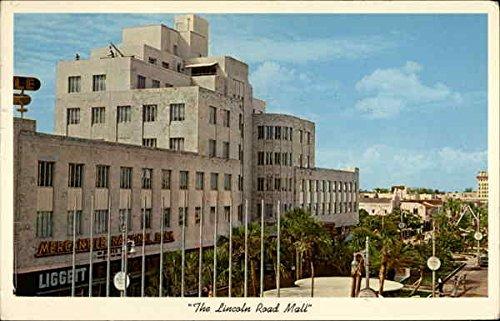 The Lincoln Road Mall Miami Beach, Florida Original Vintage - Mall Road Lincoln