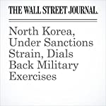 North Korea, Under Sanctions Strain, Dials Back Military Exercises | Michael R. Gordon and Jonathan Cheng