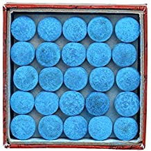 MOOCY MASTER TIP Leather Billiard/Pool Cue Tips, Box of 50(13 mm)