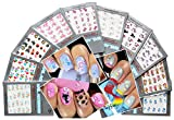 Beautiful Water Nail Tattoo Stickers -Cat, Heart, Flowers, Bows, Butterflies, & More 10- pack by La Demoiselle
