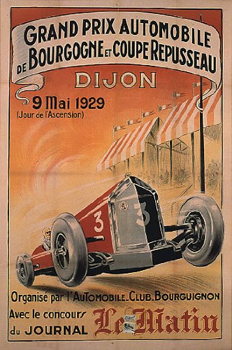 GRAND PRIX AUTOMOBILE BOURGOGNE DIJON 1929 RACE CAR RACING FRANCE 16