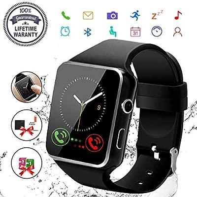 Reloj Inteligente Hombre, Smartwatch Hombre con Cámara Pantalla Táctil Ranura para Tarjeta SIM Teléfonos Inteligentes para Android Samsung iOS iPhone ...