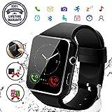 Robesty Smart Watch,Bluetooth Smartwatch Touch Screen Wrist Watch with Camera/SIM Card Slot,Waterproof Phone