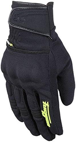Black Fluo Yellow Furygan Motorbike Motorcycle Jet Evo 2 Textile Gloves