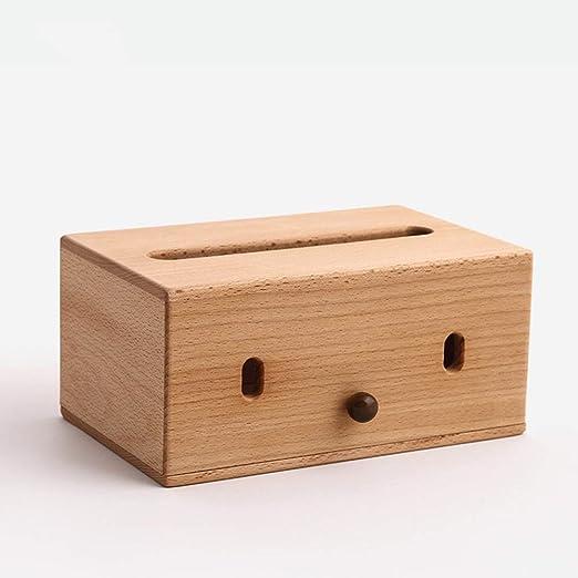 YZPZJH Caja de pañuelos de Madera de Lujo (Rectangular Regular ...