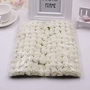 FLOWER 144pcs/pack 2cm Mini Foam Rose Artificial Bouquet Multicolor Rose Wedding Decoration Scrapbooking Fake Easter Gift 3