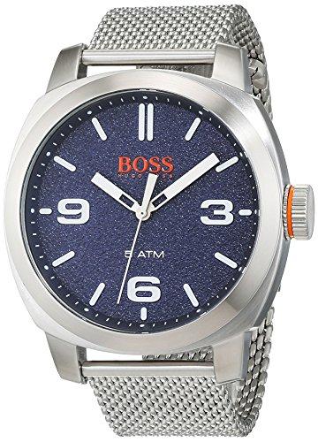 BOSS Orange Men's Quartz Stainless Steel Casual Watch, Color:Silver-Toned (Model: - 2017 Ferrari New