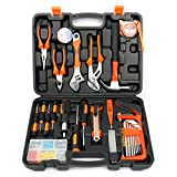 Yaetek 100-Piece Home Tool Kits Multi-functional & Universal 100 IN 1 Precision Screwdriver Hammer Set Repair Tool Kit for Household Electronics Test Repair Maintenance (100-PIECE)
