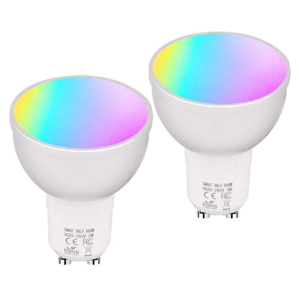 GU10 WiFi Smart Lights Bulb 22 LEDs Lamp Bombillas RGBW 5W Lampada APP Remote Dimmable Work with Alexa Google IFTTT - - Amazon.com