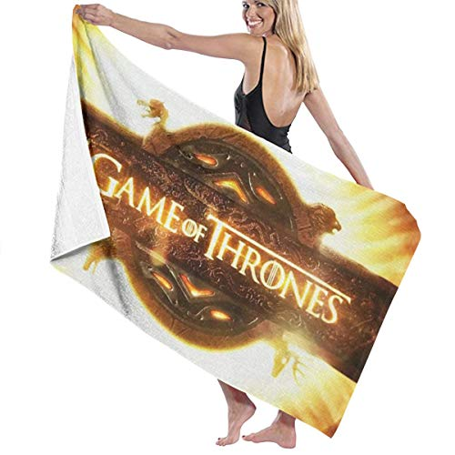 (Game of Thrones Season 8 Bath Towel Shower Wrap Beach Bathroom Body Towels Waffle Body Wrap Spa Home Travel Hotel Use)