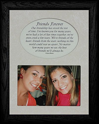 FRIENDS FOREVER Picture & Poetry Keepsake Photo Frame (Black)
