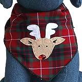 Tail Trends Christmas Dog Bandanas Rudolph Designer Appliques 100% Cotton (L)