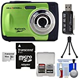 Bell & Howell Splash WP10 Shock & Waterproof Digital Camera (Green) with 16GB Card + Tripod + Reader + Kit