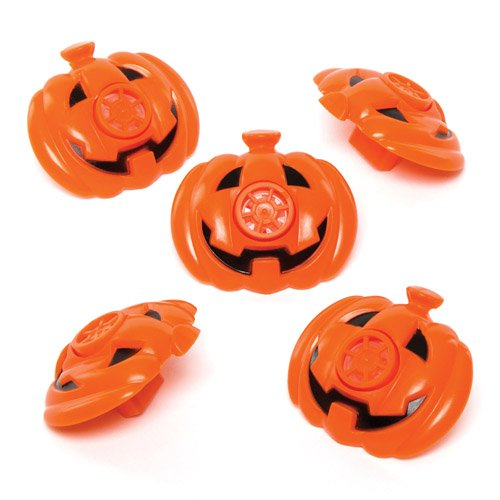 Baker Ross Pumpkin Whistles for Children to Play with. Perfect Halloween Party Bag Stuffer and Lucky Dip Prizes for Boys and Girls (Pack of 8)