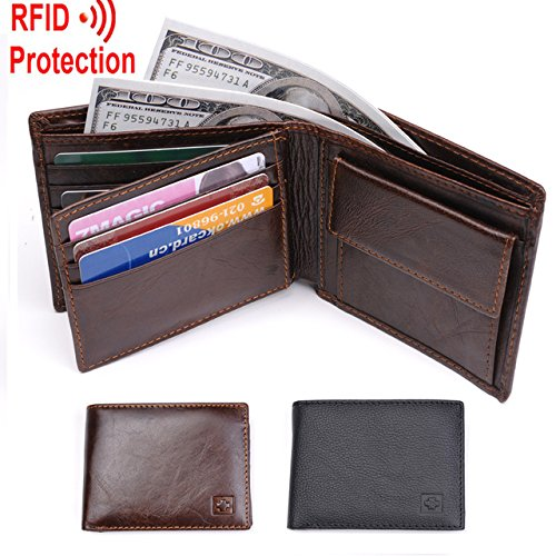 Ipad 2 Halloween Costume Hole - Pansupply New Men Wallet RFID Blocking , Zipper Coin Pocket , 100% Top grain cow leather