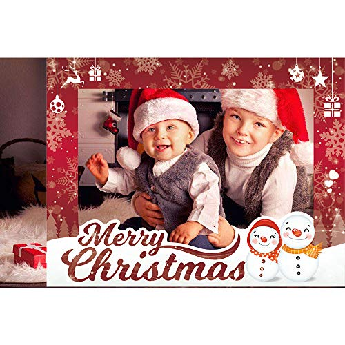 Cqi Christmas Party Supplies Photo Booth Picture Frame Happy