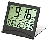 Kiera Grace Black Flip Travel Alarm Clock
