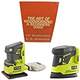 Ryobi Bare Tool Sander Bundle, P440+P401 18-Volt ONE+ Cordless with 1/4 inch Sheet Sander, Corner Cat Finish Sander and Woodworking Book