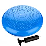 Timberbrother Stability Balance Cushion / Wobble Cushion Disc 34cm Diameter with Pump for Fitness, Posture Training, Physical Therapy and Core Strength Exercises …
