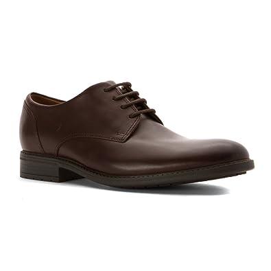 CLARKS Men's Truxton Plain Shoe Brown Leather Size 10 D(M) US