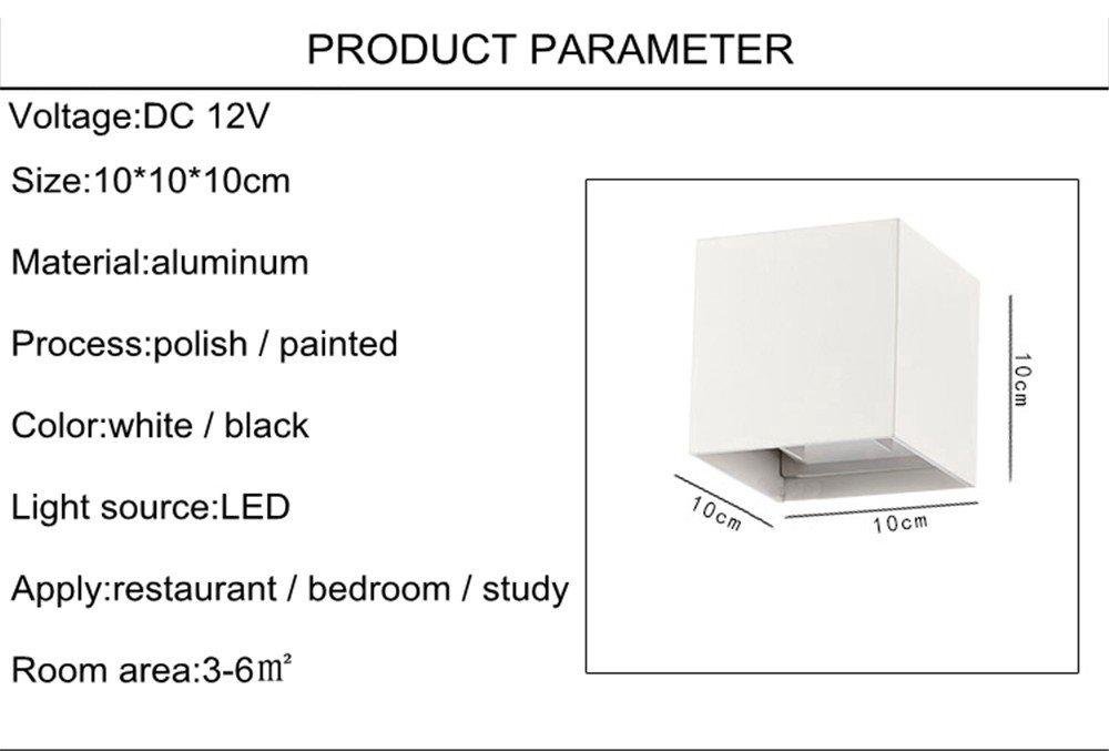 Étanche Ip65 U Moderne Enjoy En Aluminium Lampes 12v 6w Dc Lustre POXZkuTi