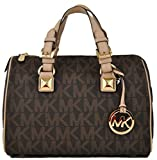 Michael Kors Grayson Medium Satchel Signature Brown PVC