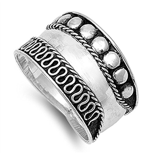 Bali Rope Twisted Swirl Thumb Cute Ring New .925 Sterling Silver Band Size (Rope Thumb Ring)