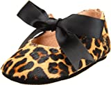 Ralph Lauren Layette Briley Ballet Crib Shoe (Infant/Toddler),Leopard Haircalf,4 M US Toddler