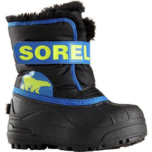 Image of the SOREL Commander-K Snow Boot, Black/Super Blue,7 M US Toddler