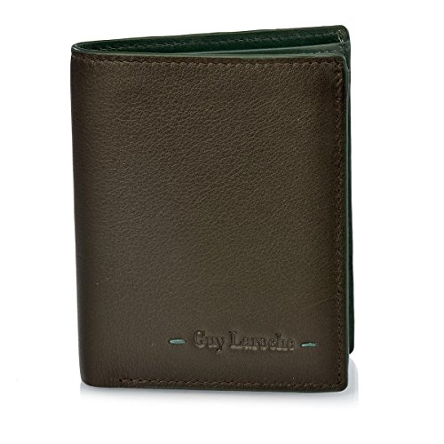 Guy Laroche Cartera de Hombre 3272 (Color: Marrón-Verde ...