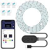 Led Strip Lights for TV with APP, Govee 6.56FT RGB LED TV Backlights 5050 TV Lights Kits, Multi DIY Color Accent LED Strips with 3M Tape and 5 Clips, Adjustable Brightness and USB Powered (40''-60'')
