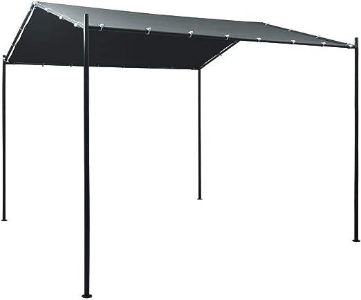 Goliraya Cenador de Jardín y Toldo Cenador Carpa de Acero Gris Antracita 3x3 m: Amazon.es: Hogar