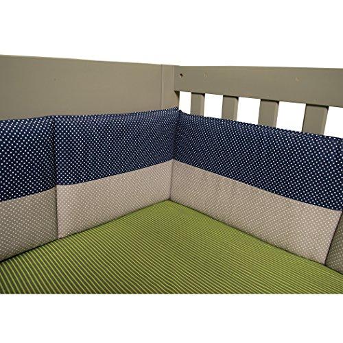 Blue Gingham Crib Bedding - Trend Lab Crib Bumpers, Perfectly Preppy