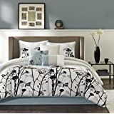 Madison Park Matilda 7 Piece Comforter Set, California King, Blue