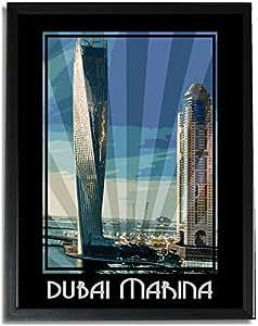 Dubai Marina- Colour F09-nm (a4) - Framed