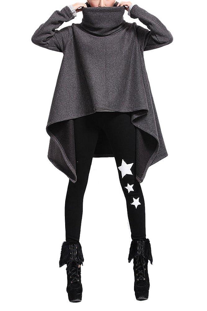 Très Chic Mayo Landa Mujer Asimétrico Risch Manga Larga Jersey Sweater Poncho con Cuello S M