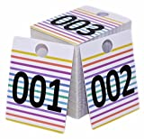 Live Sale Number Tags, LARGE SIZE Reusable Plastic Tag for Clothing and LuLaroe Supplies, Normal and Reverse Mirror Image Hanger Cards, 100 Pack (001 to 100)