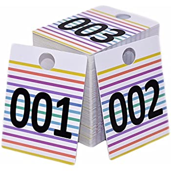 Amazon.com: Live Sale Plastic Tags, 001-999 Number Series ...