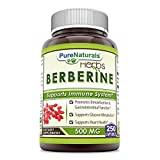 Cheap Pure Naturals Berberine 500 mg, Capsules – Supports Immune System – Supports Glucose Metabolism – Aid in Healthy Weight Management (250 Capsules)
