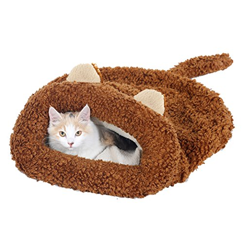 Cat Ear Shape Pet Bed Soft Dog House Cotton Cat Sleeping Bag by Kedera (22
