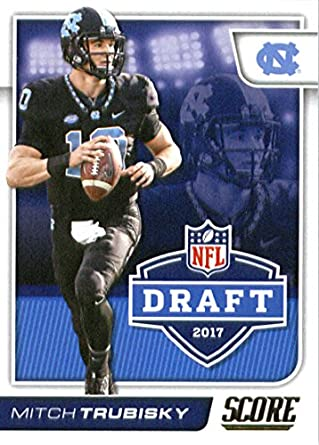 save off ef6e0 aa8ee Amazon.com: 2017 Score NFL Draft #1 Mitchell Trubisky North ...