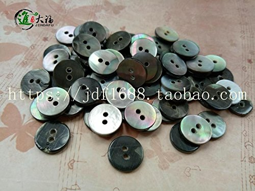 Fubei into the big black lip shell buttons shell buttons 182 plane (formerly black) spot sales of high-end accessories DIY buckle for Sewing Crafts Handmade Clothes DIY