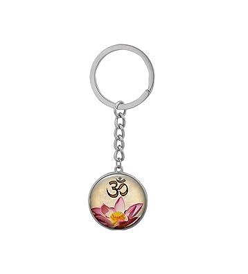Amazon Mandala Lotus Flower Pendant Keychain Om Symbol Buddhism