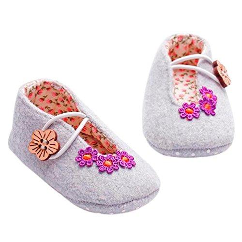 BZLine® Baby Girl Krippe Schuhe weiche Sohle Anti-Rutsch-Flower Sneakers  Prewalker Schuhe ...
