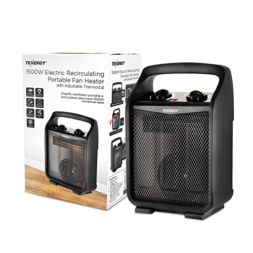 Tenergy 1500W/750W Portable Space Heaters With Adjustable