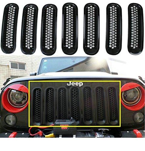 bentolin-black-front-grille-grill-mesh-insert-kit-for-jeep-wrangler-rubicon-sahara-jk-2007-2016-mode