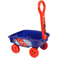 IndusBay My 1st Pull Along Toy Wagon Marvel Avengers Spiderman Toy Storage cart for Kids